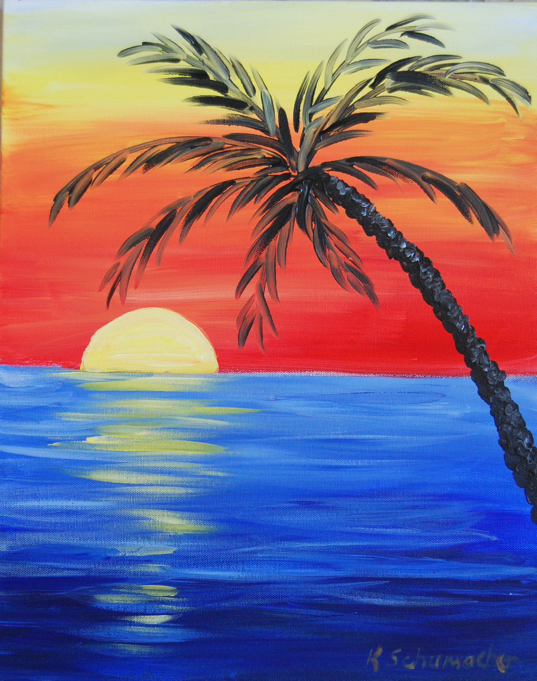 Tropical Sunset Painting Party Weds January 28th in Crestview | title | sunset painting